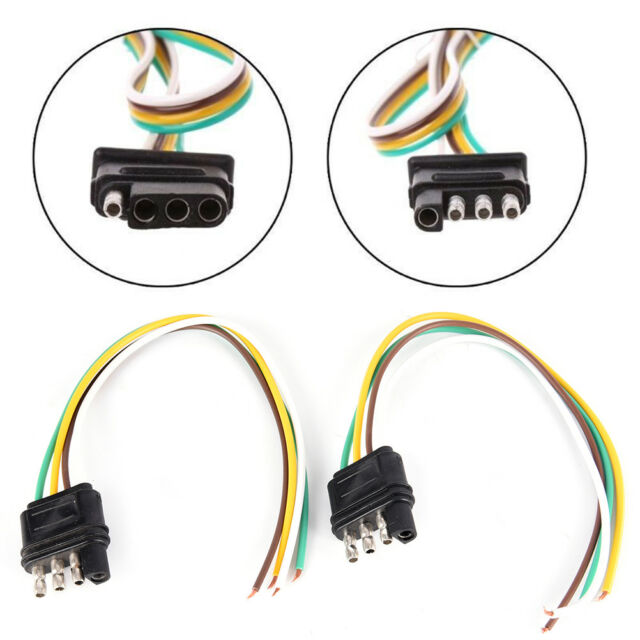 2Trailer Light Wiring Harness Extension 4-Pin Plug 18 AWG Flat Wire on 4 pin light bulbs, 4 pin power supply, 4 pin spark plugs, 4 pin ignition module,