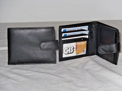Ehrlichkeit A Soft Quality Mens Leather Wallet With 5 Card Slits And Clear Window.