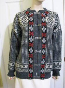 Nice Dale Of Norway Norwegian Ladies Wool Cardigan Sweater Euro 50