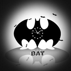 Batman-Cloche-Horloge-Murale-Decoration-Creative-Moderne-Silencieux-pour-maison