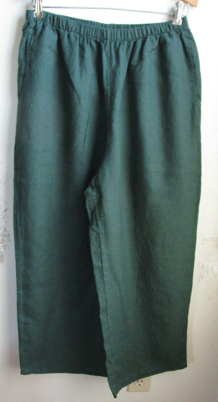 FLAX Designs  Linen Pants   M  &  L     NWT  FLoods  Pants