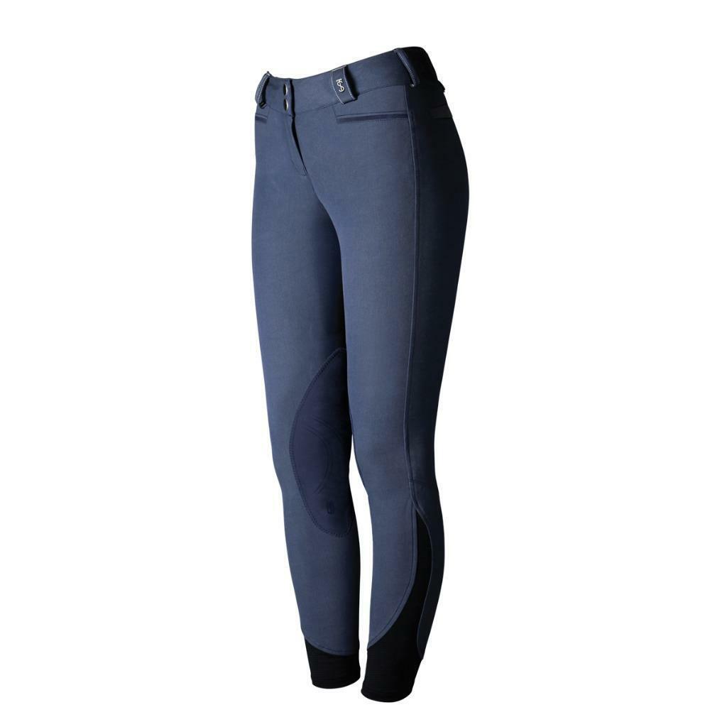 Nuevo con etiquetas Trojostep solo Extreme Rodilla Pantalones De Montar Azul Índigo Parche 26 regular