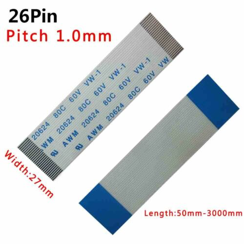 Pitch 1.0mm 26-Pin 26P FFC//FPC Flexible Flat Cable 80C 60V VW-1 50-3000mm W:27mm