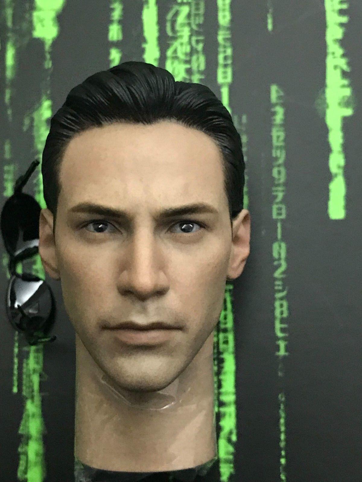 Calientegiocattoli The Matrix NEO MMS466  - 1 6th Head Sculpt & Specs  garanzia di credito