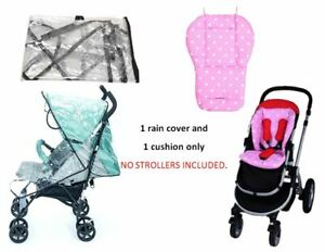 Pink-Blue-Polka-Dot-Cushion-Rain-Cover-Set-for-Cosatto-Infant-Baby-Boy-Strollers