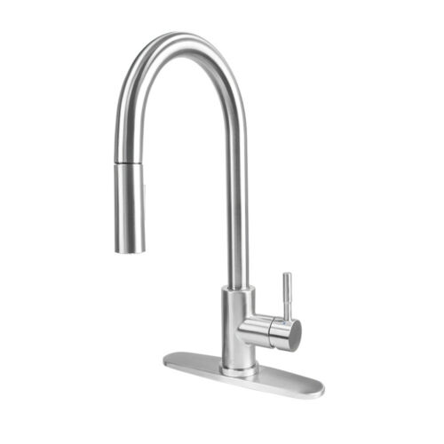 JC Stainless Steel Kitchen Sink Pull Out Sprayer Faucet w// Single Handle FC-K-01