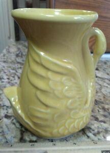 Vintage Shawnee USA 806 Yellow Swan Art Pottery Planter Vase