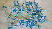 Frozen Party 20 Paper Straw 3D Snowflake decorations Party Birthday Christmas #1