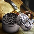 "Tobacco Grinder Aluminum Herb Spice Crusher Muller Mill Metal Hand Crank 2.5"""