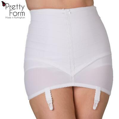 lace panel 011 Medium Support High Waisted Pull-on Girdle S-5XL 6 straps