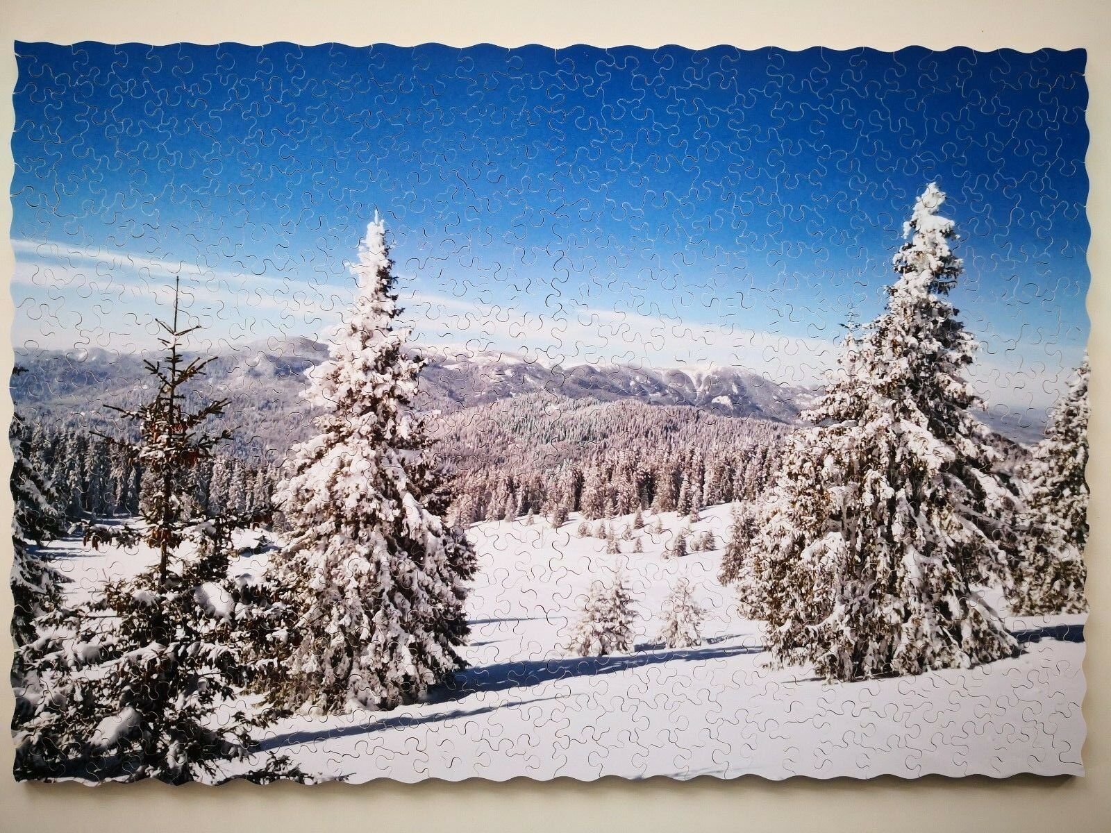 New Hand Cut Wooden Jigsaw Puzzle  Winter Paradise   In Wooden Box