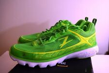 Zoot Mens Green Flash Safety Yellow/White Road Running Race Training size 9.5