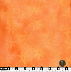 Quilting Fabric Orange White Pink Flowers Pink BG Fat Quarter 100/% Cotton
