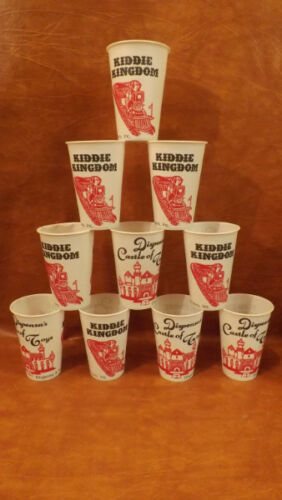 10 Vtg Dispensa/'s Castle of Toys Kiddie Kingdom Concession Stand Drinking Cups