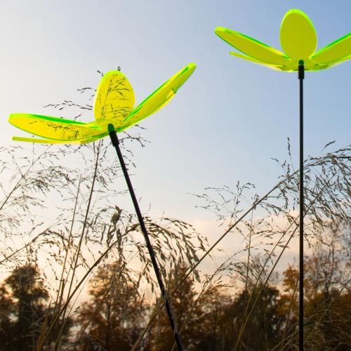 Gartenstecker Lotusblume FARBMIX 3 Stück SUNPLAY Sonnenfänger Ø20cm Suncatcher
