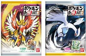 Bandai-Pokemon-Shikishi-ART-2-10Pack-BOX-CANDY-TOY-Japan