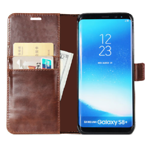 BRAND-NEW-Brown-Wallet-Flip-Case-Leather-Magnetic-Book-Cover-for-Samsung-Galaxy