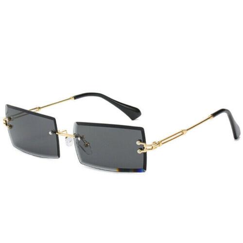 UV400 Sonnenbrille quadratische rechteckige randlose Brille neutralen Sommer