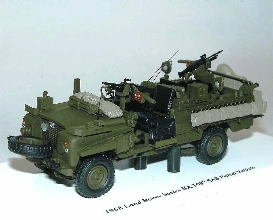 TSM MODEL 1968 Land Rover Series IIA 109  SAS Patrol Vehicle British Army 1 43