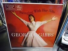 Georgia Gibbs Swinging With Her Nibs vinyl LP 1956 Mercury Records VG+