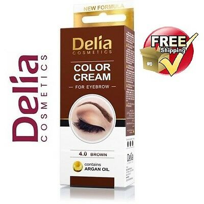 DELIA HENNA / COLOR CREAM EYEBROW PROFESSIONAL TINT KIT SET Brown / Black
