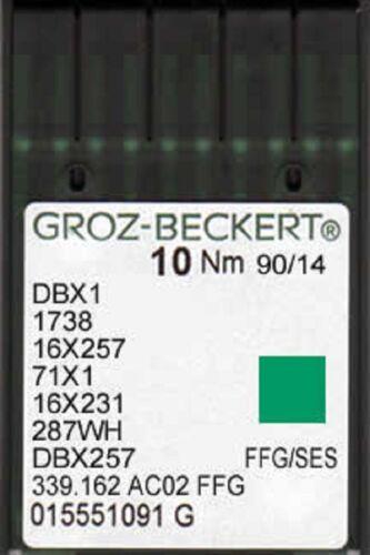 Groz Beckert Máquina De Coser Industrial Bolígrafo Agujas 16x231 dbx1 size14//90