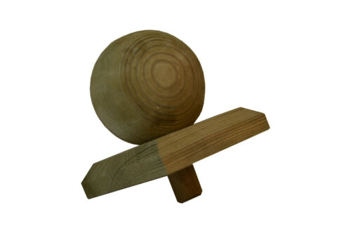 5X Pfostenkappe Kugel Holz imprägniert 8X8 für 7X7cm Pfosten Abdeckung Kappe