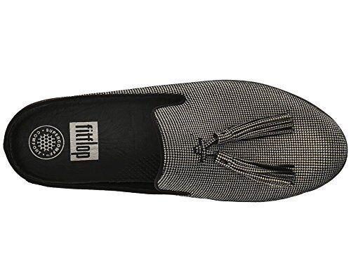 e17e85e7e05 FitFlop Womens Superskate Houndstooth Print Slip Ons Black Size 6