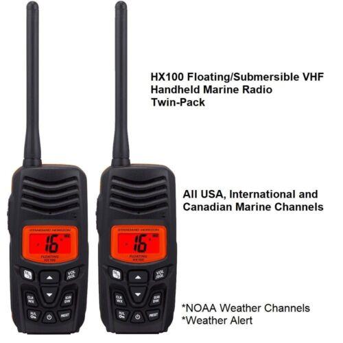 Standard Horizon HX100 Floating Handheld VHF 2-Pack