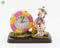 Dental Office Dentist Figurine Decoration Clown & Dalmatian Patient With Clock