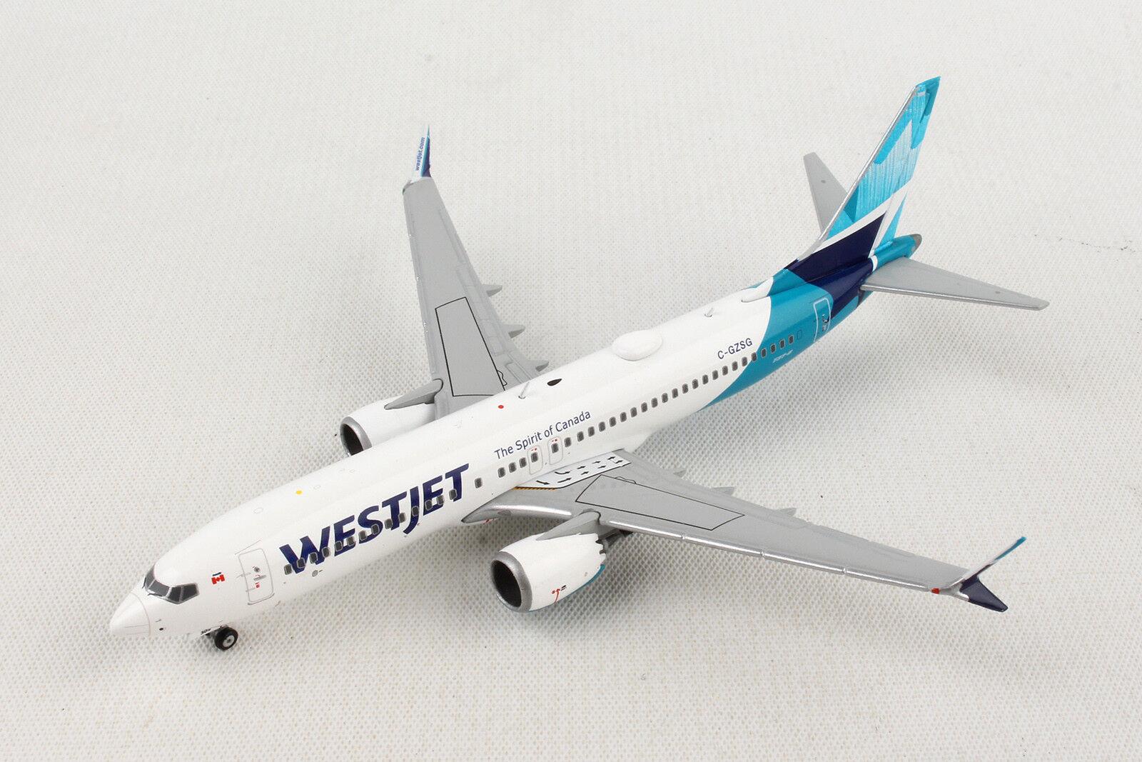 "Gemini Jets West Jet /""Canada/"" Boeing B737 MAX 8 1//200"
