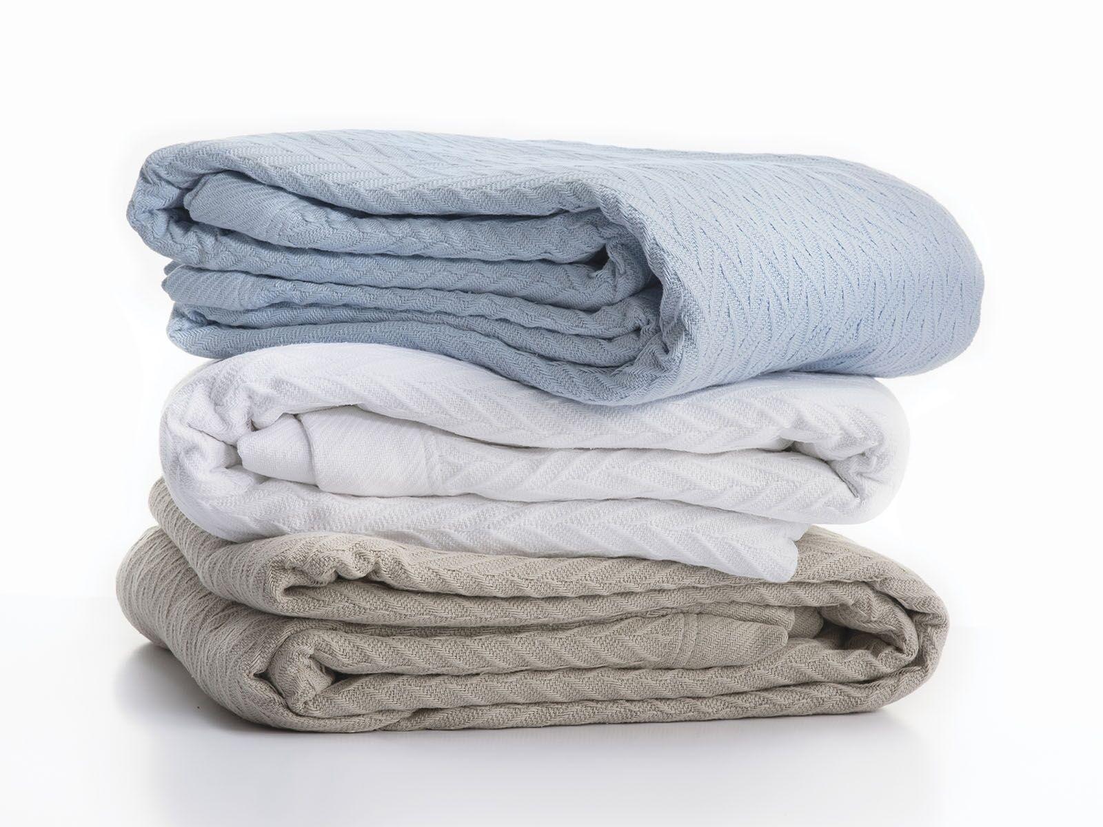 Weiß 340GSM Cheshire 100% Cotton Blanket