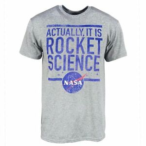Mens Official NASA Actually It Is Rocket Science T-Shirt ...