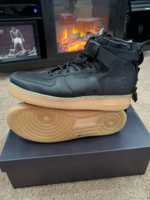 🔥Nike Men's SF Air Force 1 AF1 Mid Shoes Size 13 (Black)917753-003 🔥 (a4)