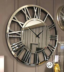Stunning Large Mirror Clock 80cm X 80cm Premium Quality