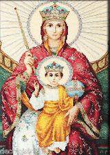 LUCA-S  BR113  Icône  le règne de la Mère de Dieu  Kit  Broderie point de croix