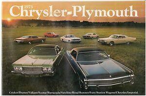 1972 CHRYSLER /& PLYMOUTH BROCHURE CATALOG 72 BARRACUDA SATELLITE FURY DUSTER
