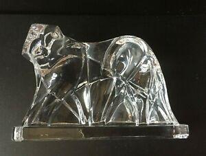 琉園 Crystal Liuli Art Glass Deco Tiger Figurine Bookend Large 6x4 Paperweight Vtg Ebay