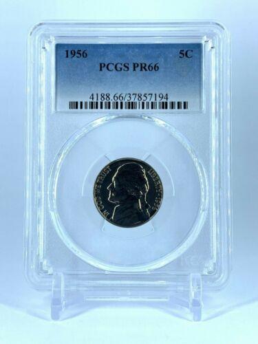 PR66 1956 TYPE 2  PCGS GRADED PROOF COINS HALF DOLLAR QUARTER DIME NICKEL PENNY