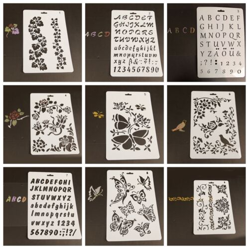 Children Plastic Template Stencils Hollow Rulers Painting Drawing Stationery Toy