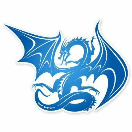 Blue Dragon Fantasy style voiture de vinyle autocollant-sélectionnez la taille