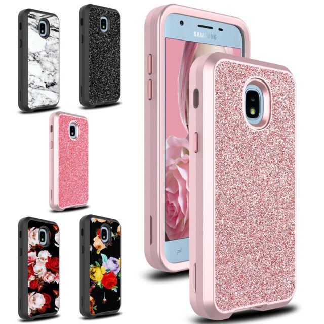 For Samsung Galaxy J3 Orbit/Star/Achieve Hard Hybrid Shockproof Phone Case  Cover