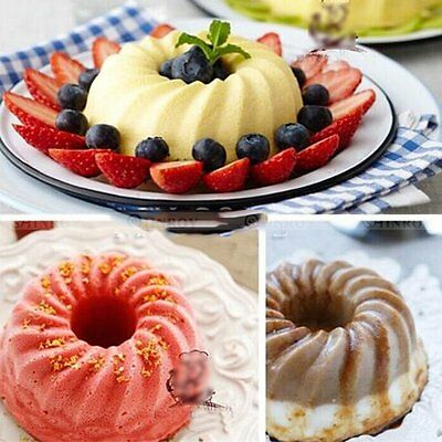 Swirl Bundt Ring Silicone Cake Bread Pastry Mold Tray Pan Bakeware Mould Decor