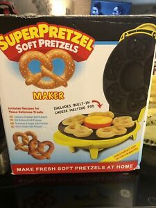 Smart Planet Super Pretzel Soft Pretzels Maker With Cheese Warmer Ebay