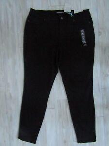 803c16e83fd Maurices Women's Denim Flex Floral Embroidered Black Jegging Size XL ...
