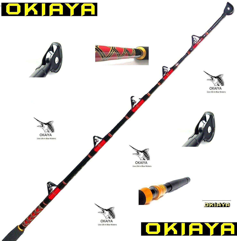 Okiaya Composit 80-130Lb Saltwater Fishing Big  Game Roller Rod TROPHY FISH.  hot limited edition