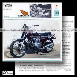 #035.03 HONDA CB 500 F FOUR 1971 Fiche Moto Motorcycle Card s8FJ2TGM-09152751-407683783