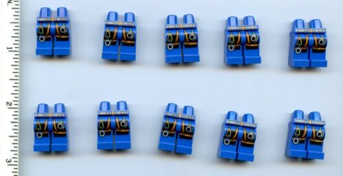 LEGO x10 Hips and Legs with Belt and Orange Harness with Rock Climbing Equipment