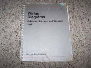 Details About 1989 Vw Volkswagen Vanagon Electrical Wiring Diagram Service Manual Syncro T3