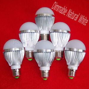6 Pack E27/E26 LED Light Bulbs 15 WATT 15W Solar Natural ...